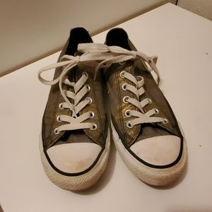 RARE Converse Black and Gold pattern